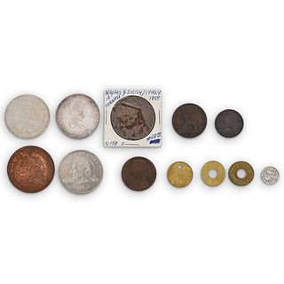 (12Pc) World Coin Collection