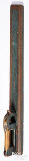 Scandinavian painted mangle board, 19th c.