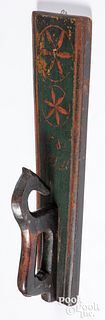 Scandinavian painted mangle board, dated 1840