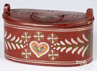 Scandinavian painted dresser box, dated 1911