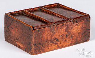 Scandinavian painted box, 19th c.