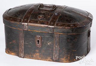 Scandinavian painted lock box, 19th c.