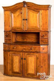 Scandinavian pine cupboard, 19th c.