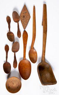 Group of Scandinavian woodenware