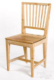 Scandinavian painted pine side chair, 19th c.