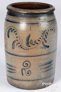 Western Pennsylvania two-gallon stoneware crock