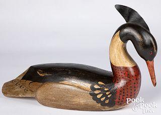 Brad Schifferl carved & painted merganser decoy