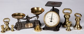 Brass and iron counter scale, 19th c.