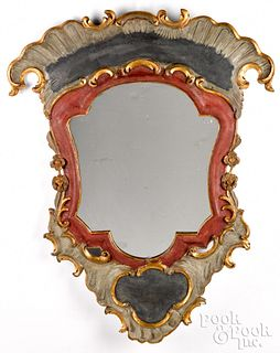 Carved and painted carousel mirror, early 20th c.