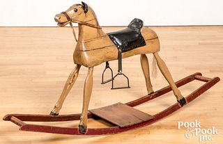Painted hobby horse, early 20th c.