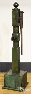"""Painted water pump, inscribed City Pump, 71"""" h."""