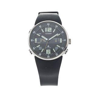 Reloj Citizen Promaster. Movimiento de cuarzo análogo- digital. Caja circular en acero de 40 mm. Pulso polímero color negro.