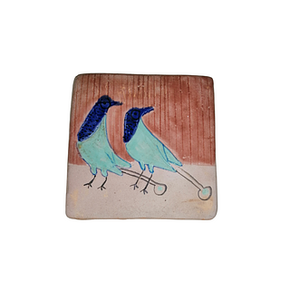 Adorable blue and turqoise handpainted birds. 71 pieces. They can be purchased in groups of ten.