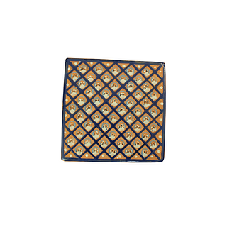 Intricate hand painted cobalt blue and white tile. 60 pieces. They can be purchased in groups of ten.