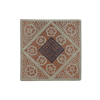 Intricate white and blue handpainted tiles.  130 pieces. They can be purchased in groups of ten.