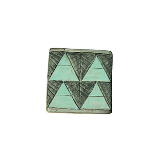 Turquoise and grey triangles. 103 pieces. They can be purchased in groups of ten.