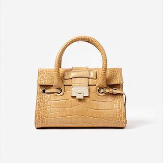 Jimmy Choo Embossed Leather Rosalie Handbag
