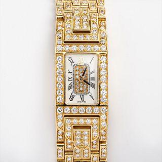 Audemars Piguet Diamond Pave' Charleston Watch, 18k