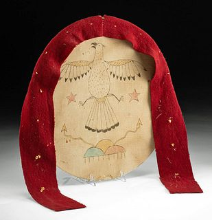 19th C. Native American Textile Dance Shield