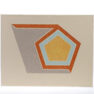 Frank Stella, lithograph