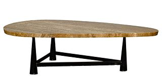 (Attributed to) Edward Wormley for Dunbar Marble Top Coffee Table