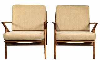 (Attributed to) Poul Jensen for Selig 'Z' Chairs