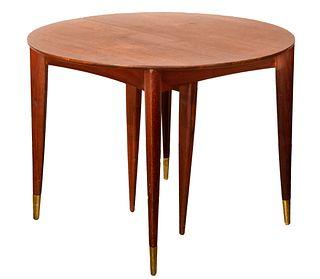 MCM Adjustable Walnut Dining Table