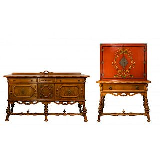 Grand Rapids Chair Co. Spanish Renaissance Sideboard and Cabinet