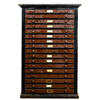 Painted Wood Flatfile Printer Cabinet