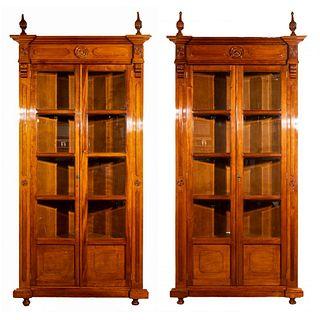 Walnut Corner Cabinets