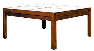 Walnut Vitrine Coffee Table