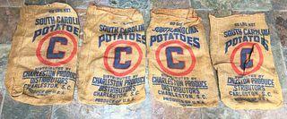 Vintage Potato Sacks with Advertising