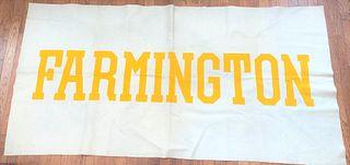 Large Farmington College Felt Banner