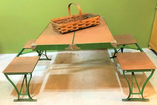 Vintage Folding Table & Chairs Briefcase