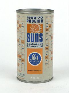 A-1 Beer 1969 Suns Schedule ~ 12oz ~ T35-13