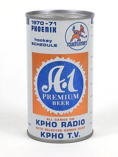 A-1 Premium Beer 1970 Roadrunners Schedule ~ 12oz ~ T35-10