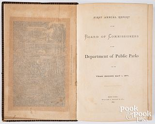 First Annual Report... Public Parks, 1871