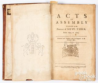 DePuy copy, Acts of Assembly Passed... NY, 1726