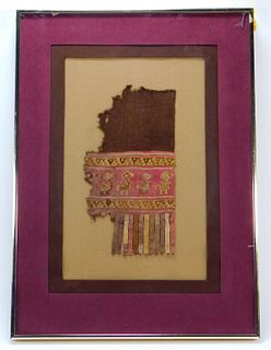 Peruvian Coptic Textile Fragment