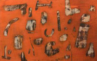 Ernest Trova - Orange Abstraction, 1959