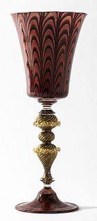 Davide Fuin Venetian Murano Glass Goblet