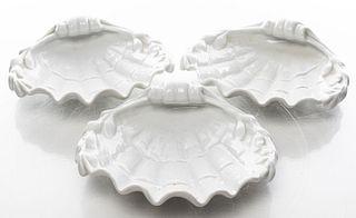 Vista Alegre Portugal Porcelain Shell Dishes, 3