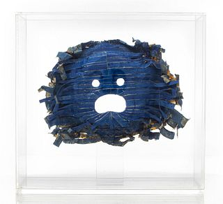 "Robert Courtright Mixed Media ""Mask"" Sculpture"