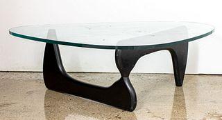 Isamu Noguchi Modern Glass Top Coffee Table