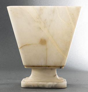 Art Deco Alabaster Uplight Table Lamp