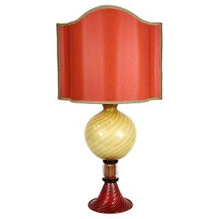 Gabbiani Murano Glass Table Lamp