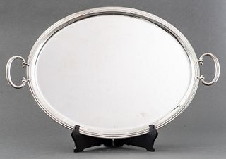 Christofle Albi Silver-Plated Oval Serving Tray