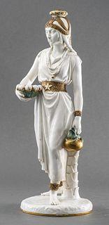 English Porcelain Sculpture of a Woman