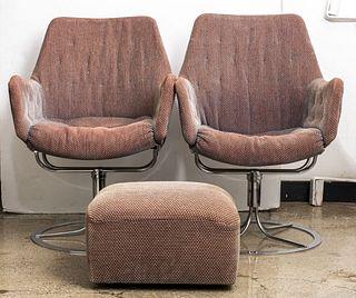 Bruno Mathsson for Dux Swivel Arm Chairs, Pair