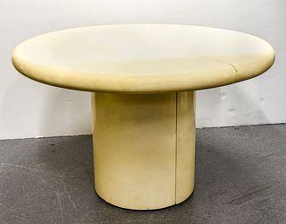 Karl Springer Modern Goatskin Dining Table